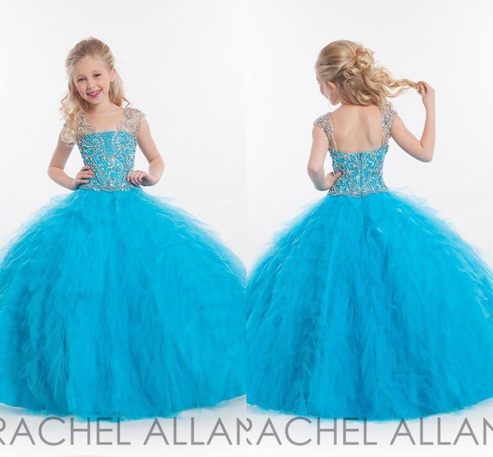 Little Girls Blue Ball Gown Dress – fashion dresses