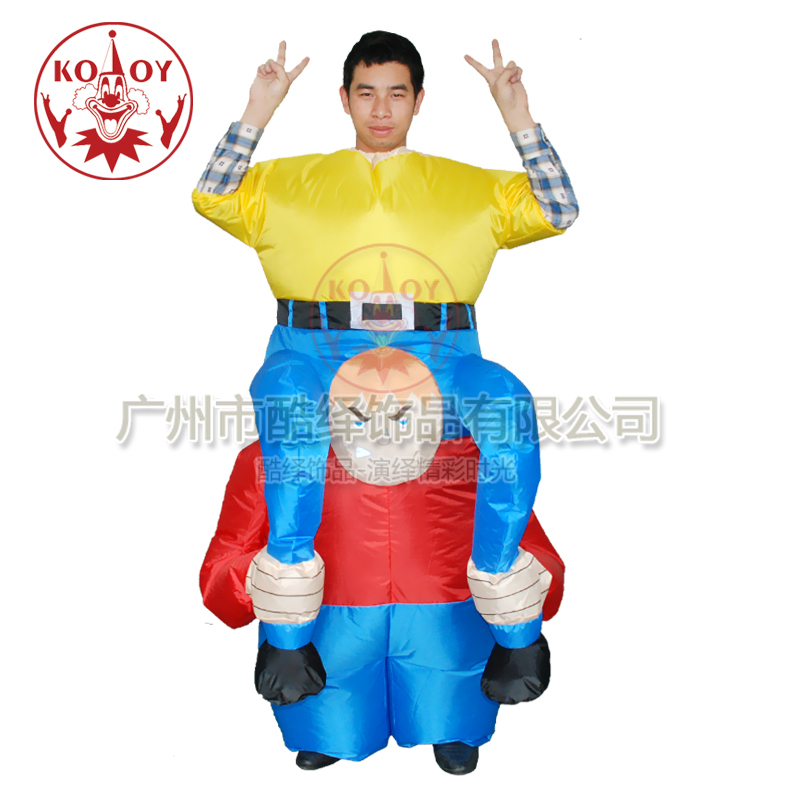 halloween adult inflatable dwarf costume for party holiday. Black Bedroom Furniture Sets. Home Design Ideas