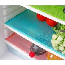 4 pcs/lot 45*29cm Refrigerator Mats Bacteria Prohibiting Table Mats Washable Anti Fouling Rectangle Fridge Mat Pads 3 Colors(China (Mainland))
