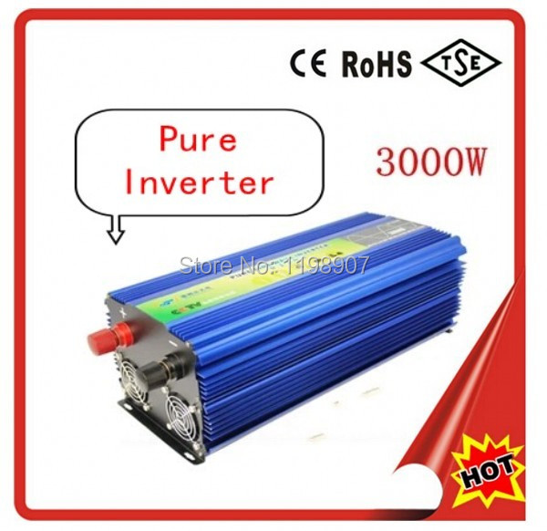 Pure sine wave power inverter 3000W 12V 220V 50Hz aluminum case with CE &amp;amp; Rohs<br><br>Aliexpress