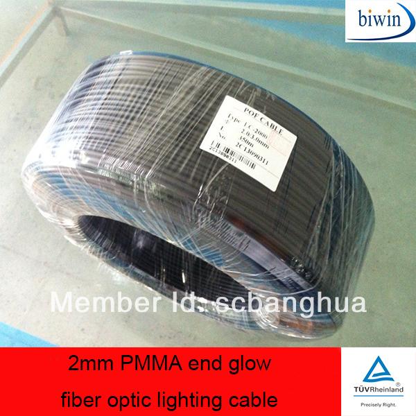 2mm pmma end glow fiber optic lighting cable in optic. Black Bedroom Furniture Sets. Home Design Ideas