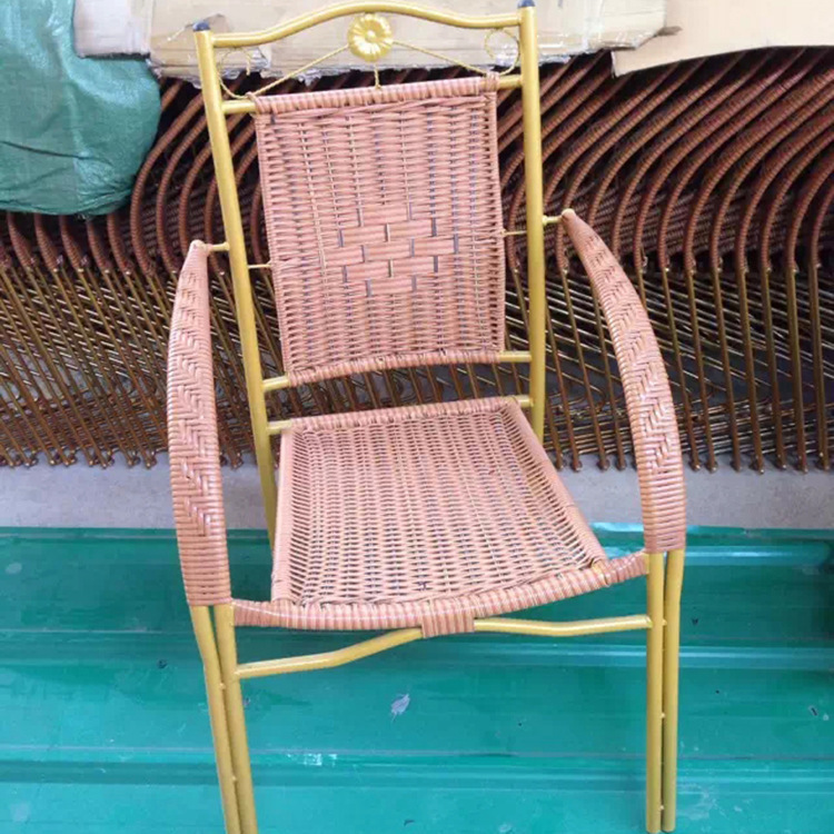 Zhengtian home decorative rattan chairs, wrought iron paint delicate openwork chairs outdoor leisure chair<br><br>Aliexpress