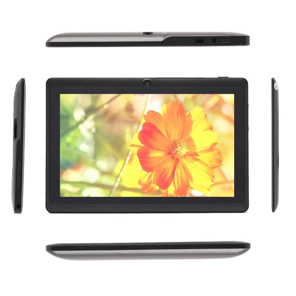 IRULU Black 7 Tablet PC Quad Core16GB ROM Android 4 4 Real 1024 600 HD Dual