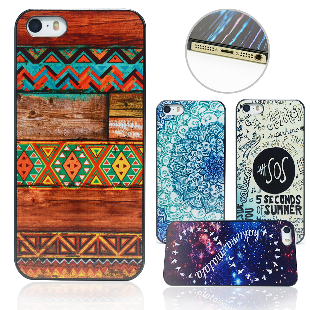 Dirt-resistant Shock Proof Phone Case Cover 5 5S Phone shell National Style Custom Printed Hard PC Black Plastic Protective(China (Mainland))