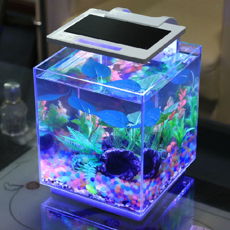 Free shipping dense mini desktop aquarium fish tank ultra for Fish tank for goldfish