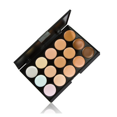 1 PCS Professional 15 Color Camouflage Facial Concealer Palettes Neutral Makeup Eyeshadow Cosmetic Drop Shipping(China (Mainland))