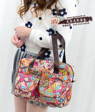 5pcs/lot Colorful Womens Floral Printed Tote Bag