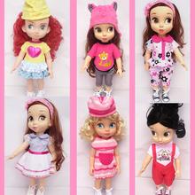 40cm Boneca Sofia princess Cinderella princess Anna Elsa girls for 16 Salon Doll clothes dress for