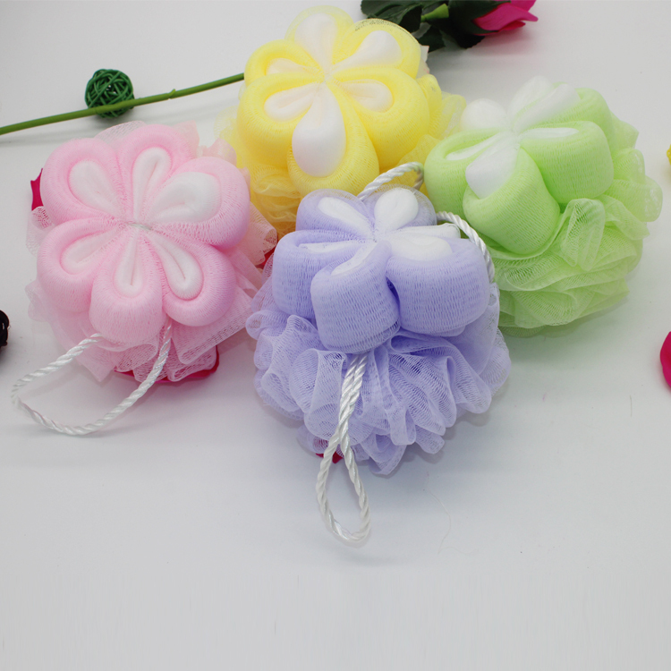 High quality loofah sponge mesh bath sponge natural bath sponge baby shower favors wholesale for promotion(China (Mainland))
