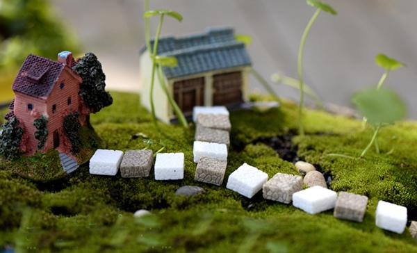 20pcs ecological scenery props Stone ladder stairs fairy garden gnome moss terrarium decor Resin crafts bonsai Micro landschaft(China (Mainland))