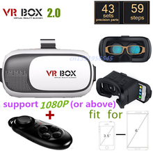 2016 Google cardboard VR BOX II 2.0 Version VR Virtual Reality 3D Glasses For 3.5 - 6.0 inch Smartphone+Bluetooth Controller 1.0(China (Mainland))