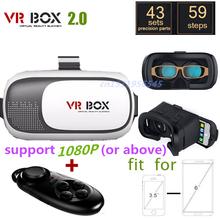 2016 Google carton VR boîte II 2.0 Version VR réalité virtuelle lunettes 3D pour 3.5 - 6.0 polegada Smartphone + Bluetooth contrôleur 1.0(China (Mainland))