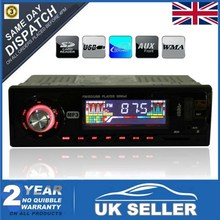 2015 New 12V Stereo Head Unit Car Auto FM /SD Card /USB /MP3 Player Radio Red Light