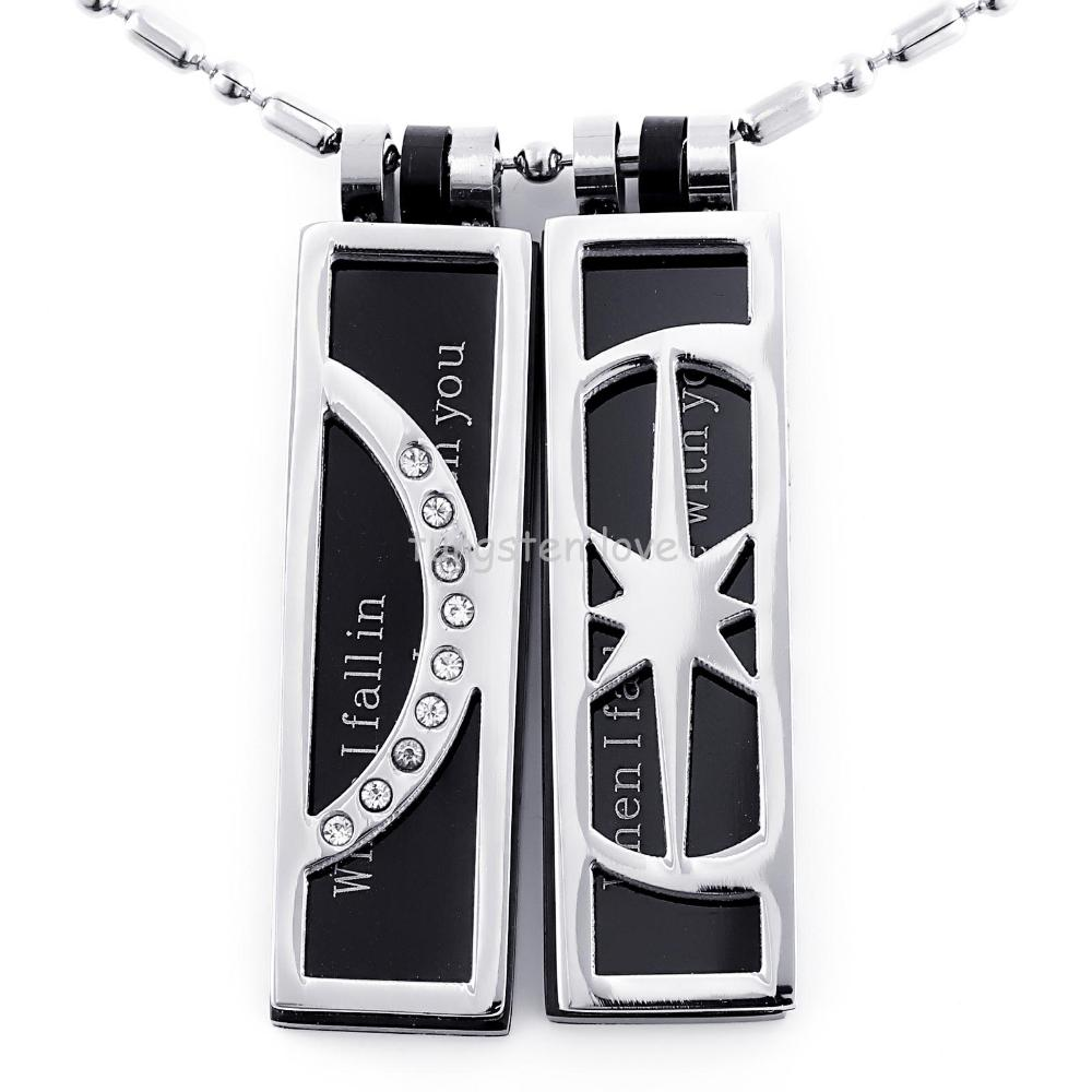 1 pair 2014 Newest Game of Thrones Necklace - My Sun and Stars Moon of My Life Silver Pendant Necklace Set for lover Gift(China (Mainland))