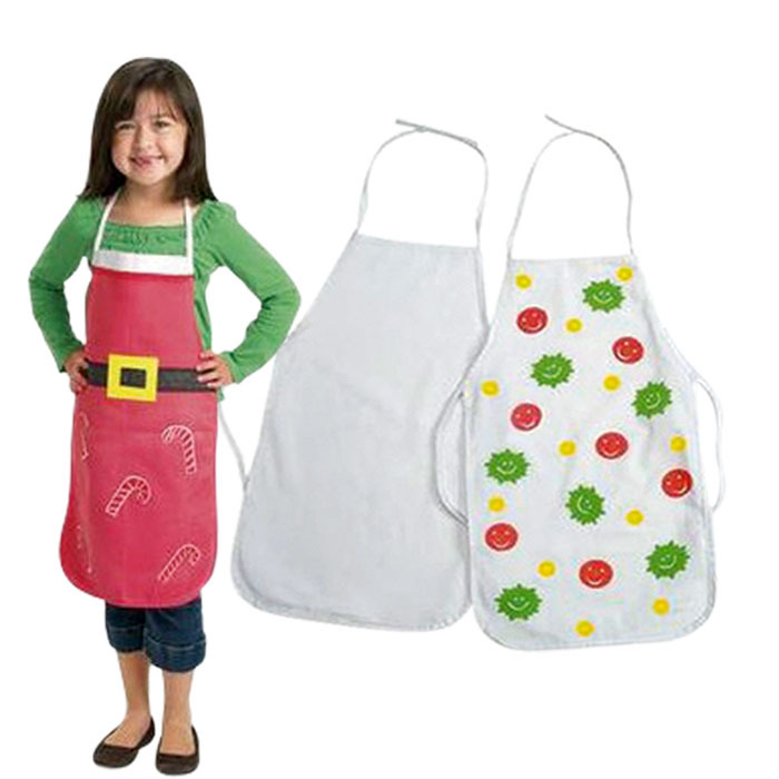 3pcs/Lot Coloring Toys Children'S White Apron Can Painting Diy Graffiti Semi-Finished Products Creative Kids Toys Hot Sale(China (Mainland))