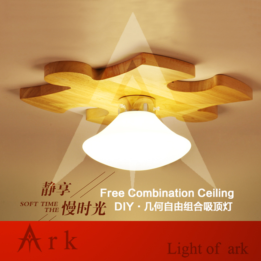 ark light 1PCS DIY puzzle ARRAY wood building block led Ceiling Lamp For Living Room Bedroom Balcony LOBBY,aisle,hall(China (Mainland))