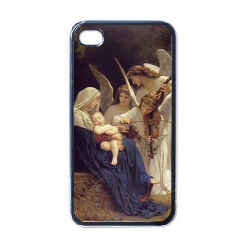 Song of the Angels Black Case for iphone 4 free shipping(China (Mainland))