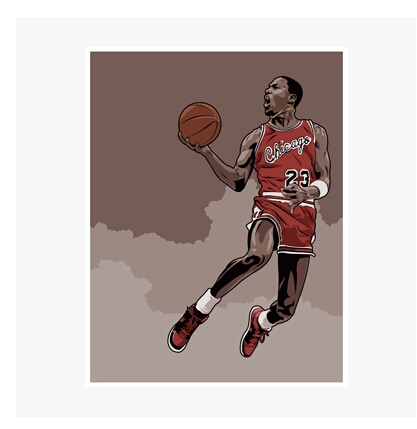 A classic action dunk contest Waterproof tide stickers notebook, luggage, car, mobile phone stickers(China (Mainland))