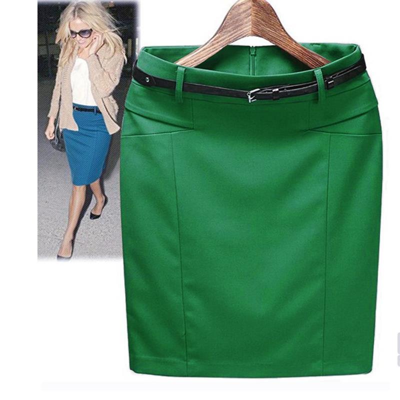 Style Spring Summer 2016 New Slim Hip Straight Skirts Fashion Women's Plus Size XXXL Cotton Work Pencil Skirt Ladies Wholesale(China (Mainland))