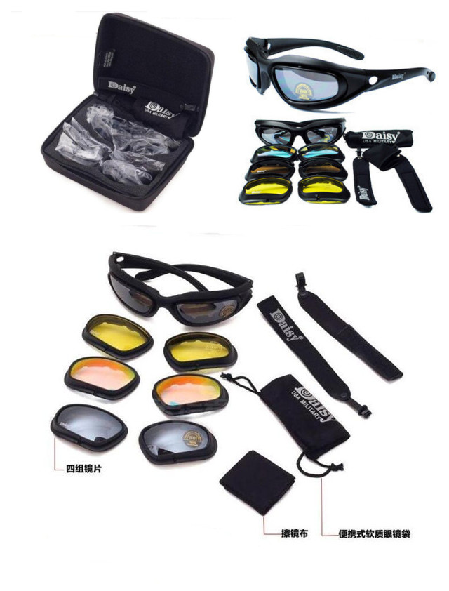 9pcs/set Choppers Motorcycle Padded Foam Wind Resistant Riding Glasses Sunglasse