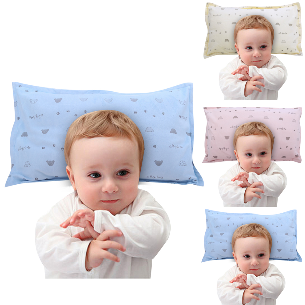 Baby bed and pillow - Baby Pillows Newborn Infant Sleep Bed Pillow Soft Winter Crystal Comfort Pillow Pink Blue Yellow Baby