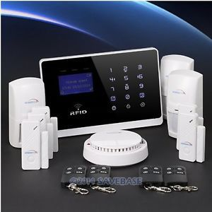 HOMSECUR English, Russian and Italian Voice Wireless GSM Home Security Alarm System +3PIR Sensors +4Door Sensors(China (Mainland))