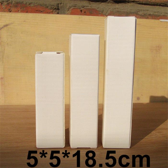 Retail White Paper Box for Cosmetic Perfume Bottle Packaging Boxes 5*5*18.5cm Free Shipping(China (Mainland))
