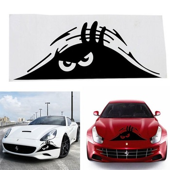New Reflective Waterproof Fashion Funny Peeking Monster Car Sticker vinyl decal decorate sticker car styling hot selling