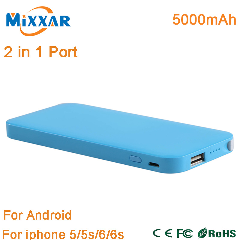 ZK90 Power Bank 5000mAh Portable Charger Slim Powerbank for iPhone for Xiaomi for Huawei Mobile Phones With Retail Box(China (Mainland))