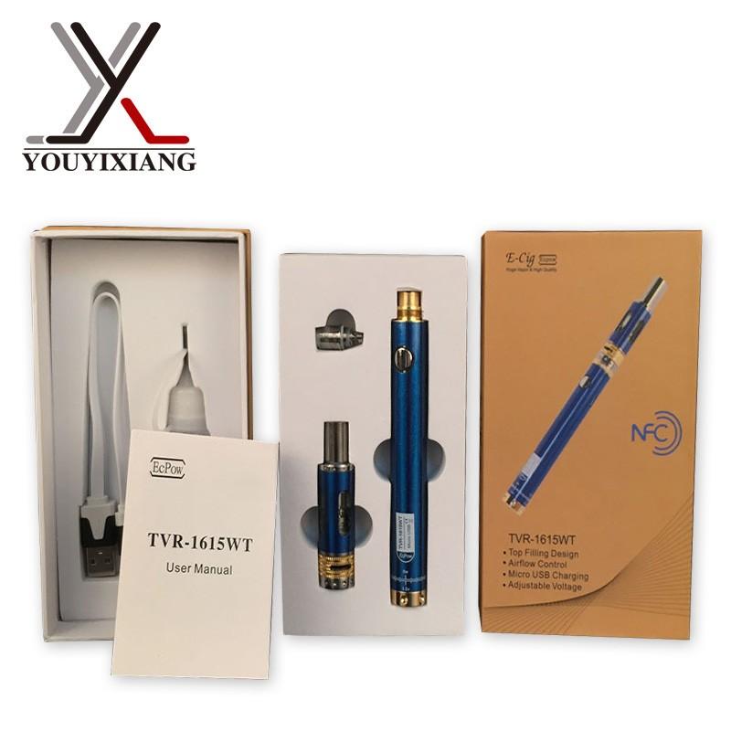 ถูก 5ชิ้น/ล็อตบุหรี่อิเล็กทรอนิกส์TVR 1615 WTของขวัญชุดที่มีTVR evod cigอีแบตเตอรี่แรงดันไฟฟ้าตัวแปรบุหรี่อิเล็กทรอนิกส์ไอPenNO.27