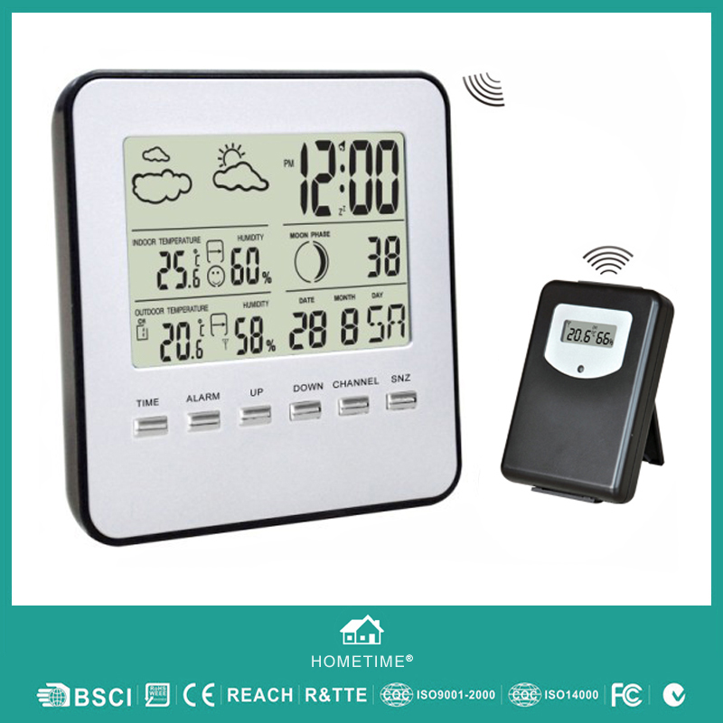 Professional Temperature Instrument Digital Wireless Indoor Outdoor Weather Station With Temperature Humidity Forecast #T04(China (Mainland))