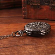 New 2015 top brand engraved hollow design antique bronze steampunk quartz women pendant watch necklaces pocket