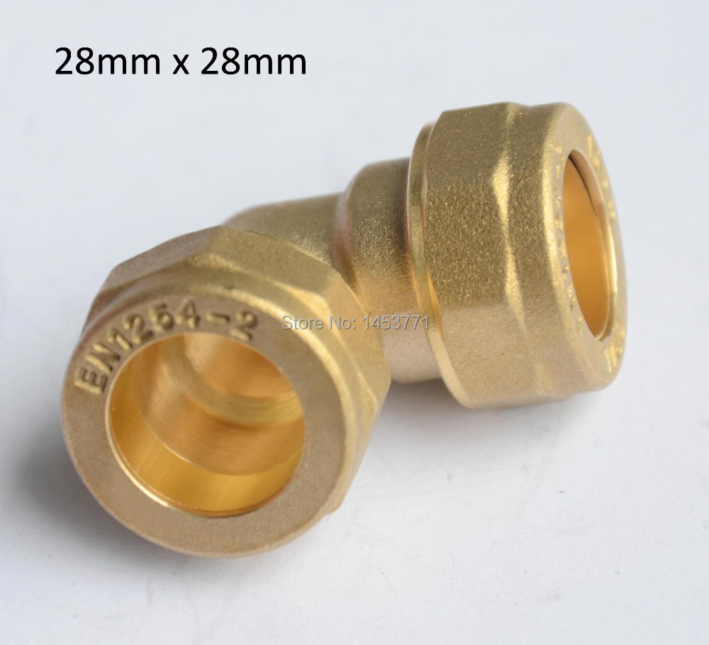 28mm Equal Elbow brass Compression Fittings connect Copper pipe for Hot & Cold water Manufacture Customized large size plumping(China (Mainland))