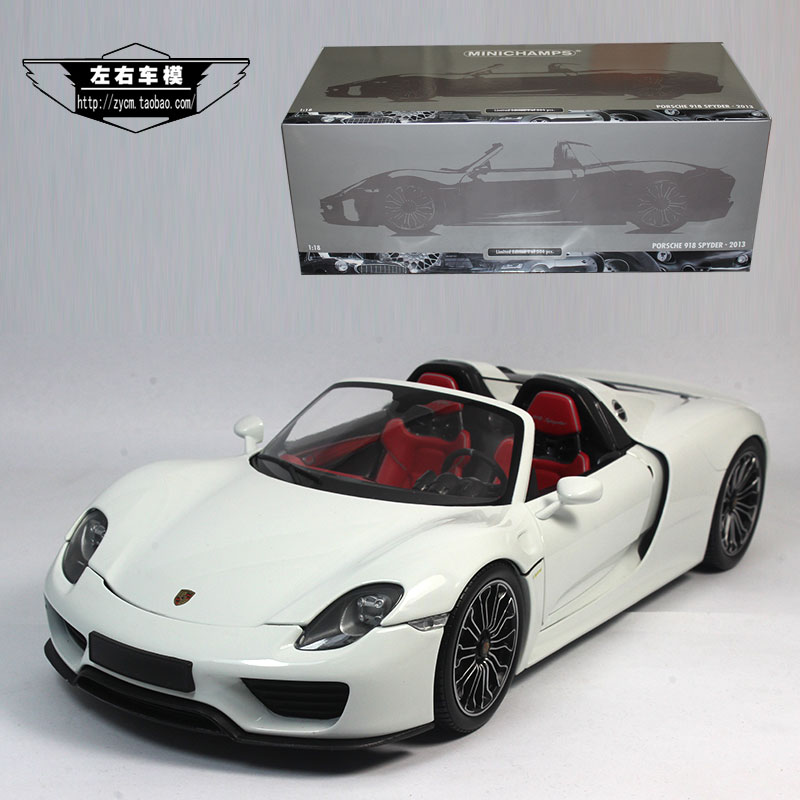 Brand New Minichamps 1/18 Scale Car Model Toys Pr-o-s*che 918 Spyder Diecast Metal Car Model Toy For Collection/Gift/Decoration(China (Mainland))