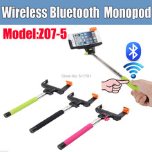 2 in 1 Extendable Handheld Wireless Bluetooth Monopod Selfie Stick For Iphone4/4s/5/5s/6 Plus IOS Samsung Android Smart Phone