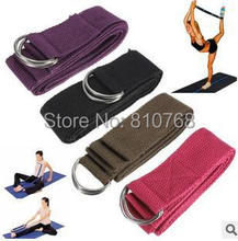 Free Shipping 1.83m COTTON Yoga Pilates Stretch Resistance Band Exercise Fitness Training#2065