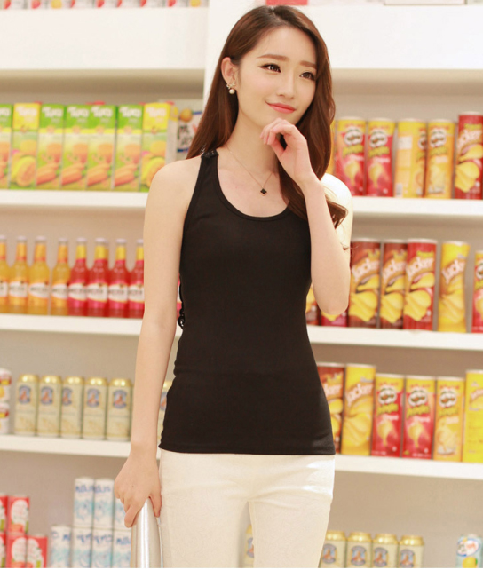 Free shipping 2015 hot woman pure cotton sport Camisoles woman Hollow out active tanks lady pure cotton Intimates(China (Mainland))