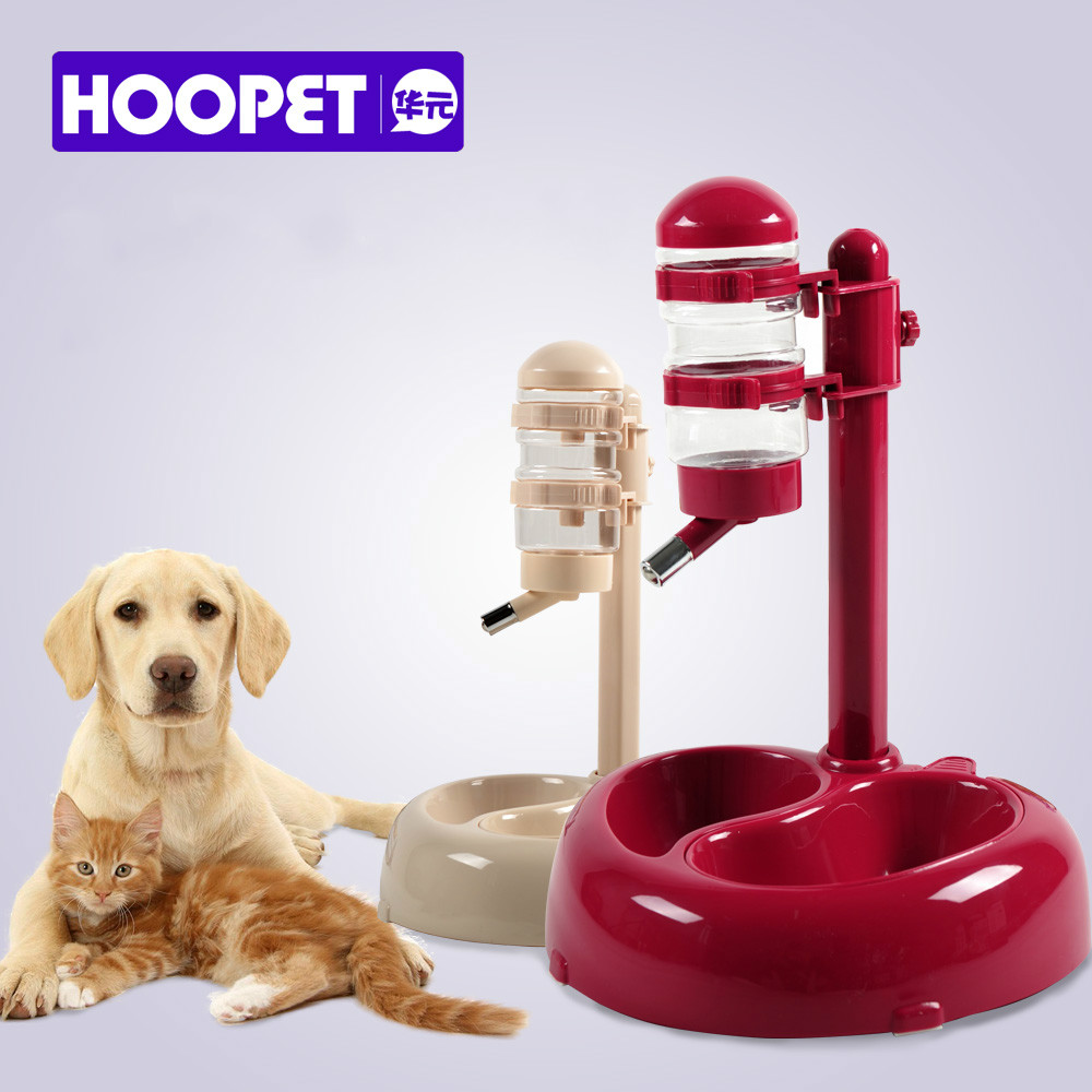 HOOPET Advanced Pet dogs drinking Rotatable and lift cats Food bowl Convenience Clean White Red(China (Mainland))