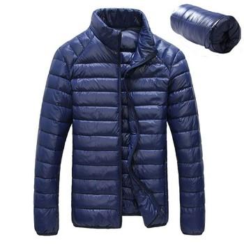 Пуховик с утиным пухом, сверхлегкий мужчины 90% белый пух зима на открытом воздухе спорт пальто водонепроницаемый парки верхняя одежда E46