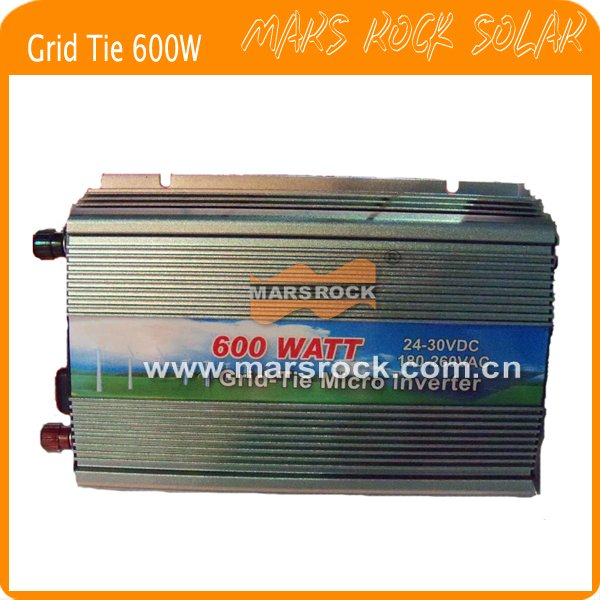600W (10.5-28VDC) micro grid tie PV inverter, for 18V 720W solar panel with CE&RoHS approved, Free shipping!