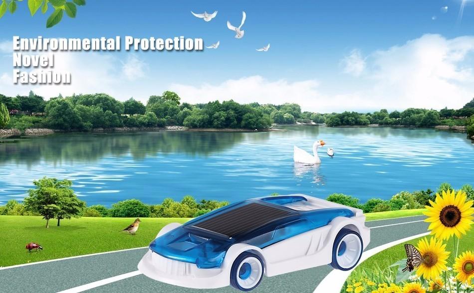New Novelty Solar Salt Water Hybrid Car Children Green Energy Educational Technology Toy Kids Creative Solar Powered Car Gift(China (Mainland))