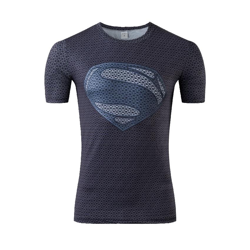 Newest Marvel Superhero Gym Clothing Superman T-Shirt Men Women Cartoon 3D T Shirt Funny T Shirts Compression Shirt(China (Mainland))
