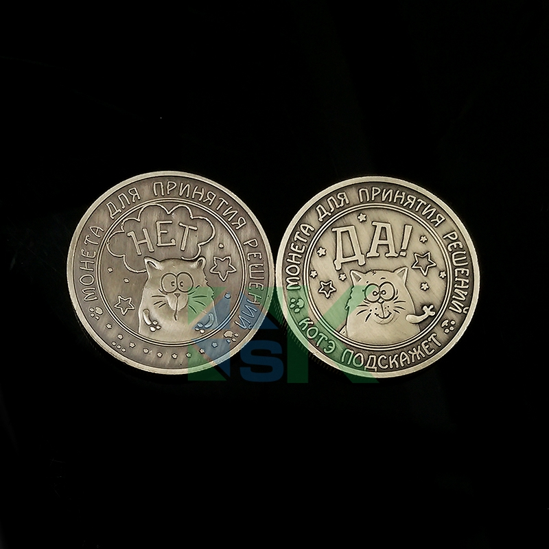 2016 New Russia Fashion Zodiac Coins Yes or No coins Russian rouble copy coin cute vintage cat commemorative metal crafts coins(China (Mainland))