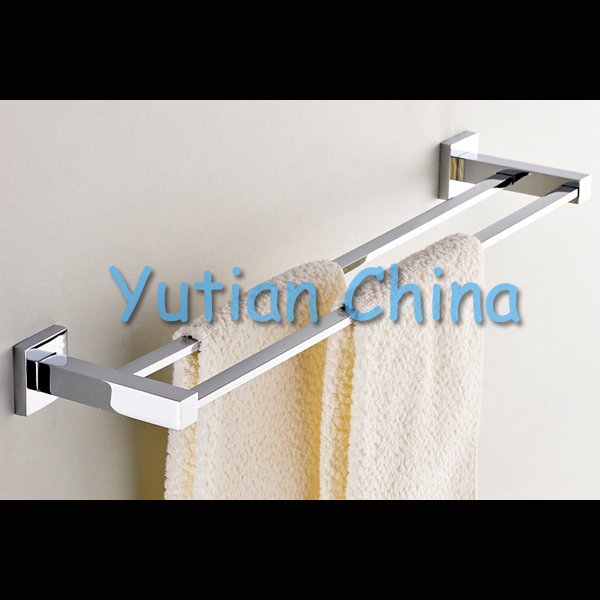 """Free Shipping (24"""",60cm)double Towel Bar/Towel Holder,stainless steel Made,Chrome Finish, Bathroom hardware,Bathroom accessories(China (Mainland))"""
