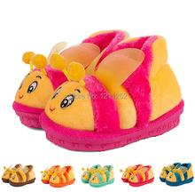 Pantoufles d'hiver pour enfants 2014 nouveaux enfants accueil chaussures / enfants hiver Bee style package profondes pantoufles livraison gratuite(China (Mainland))