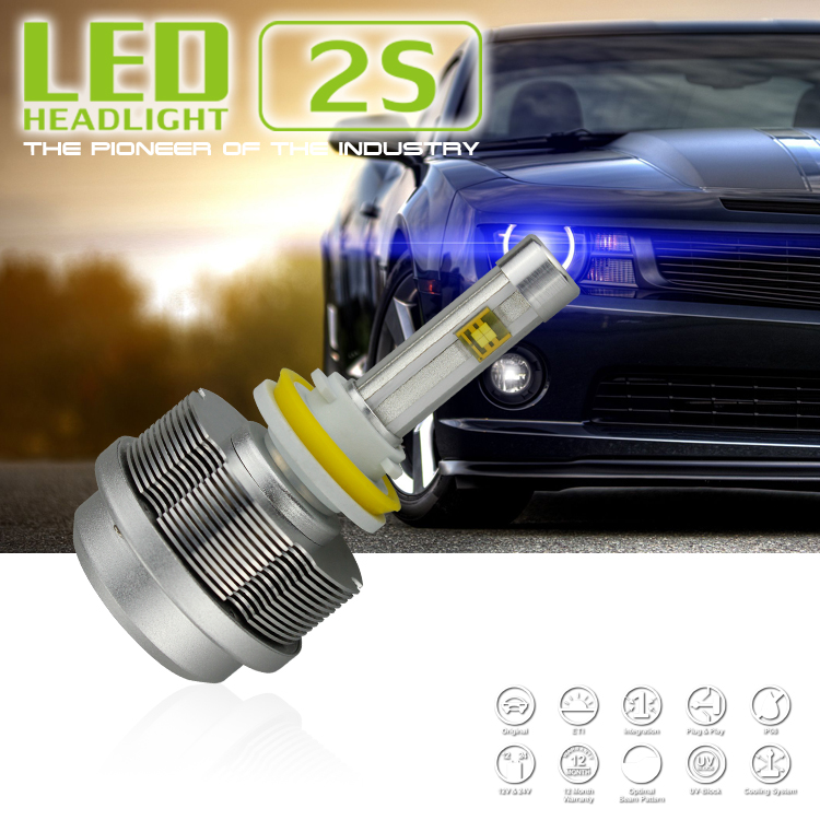 9006 / HB4 Xenon White 30W ETI 2S LED Headlight Light Bulbs Kit 6000K 3600LM<br><br>Aliexpress