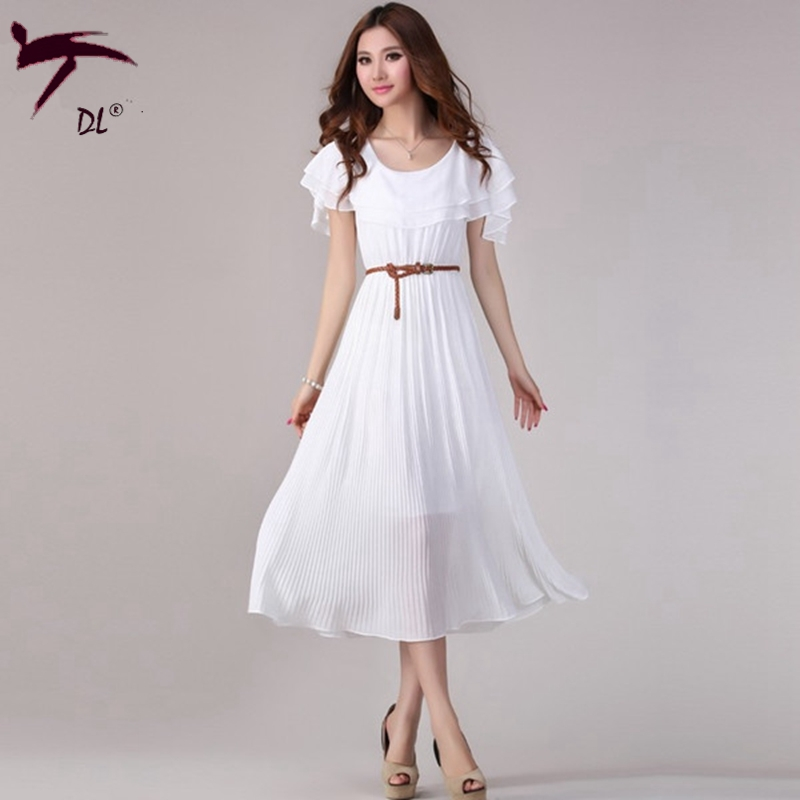 the gallery for gt long white casual summer dress