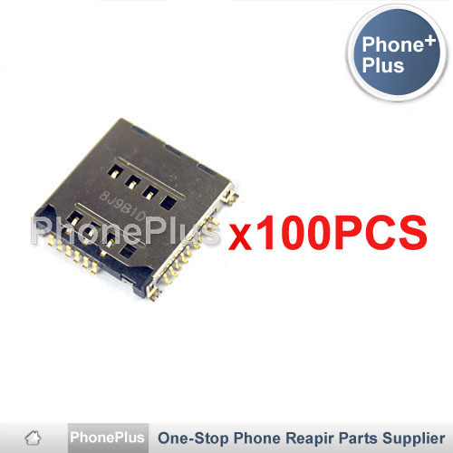 Здесь можно купить  100PCS SIM Memory TF Card Micro SD Card Tray Reader Module Holder Replacement For Samsung S5230 Star S5230C S5233 S3930  Телефоны и Телекоммуникации