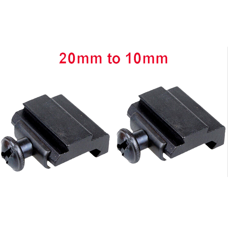 20MM to 11 MM Scope Rail Mount Base Weaver Picatinny to Dovetail Adapter Hunting Accessories 1 Pair(China (Mainland))