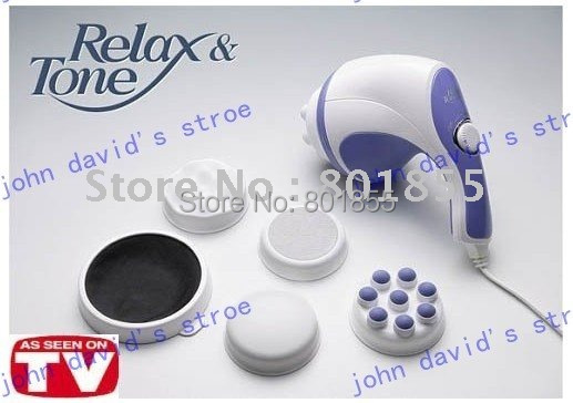 Multi-function massage,  relax&tone Massager Simming/Toning/Relaxing(incude five attachment head )1 pc/lot